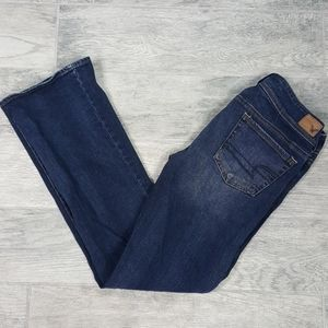 American Eagle Kick Boot Stretch Dark Wash Jeans 8